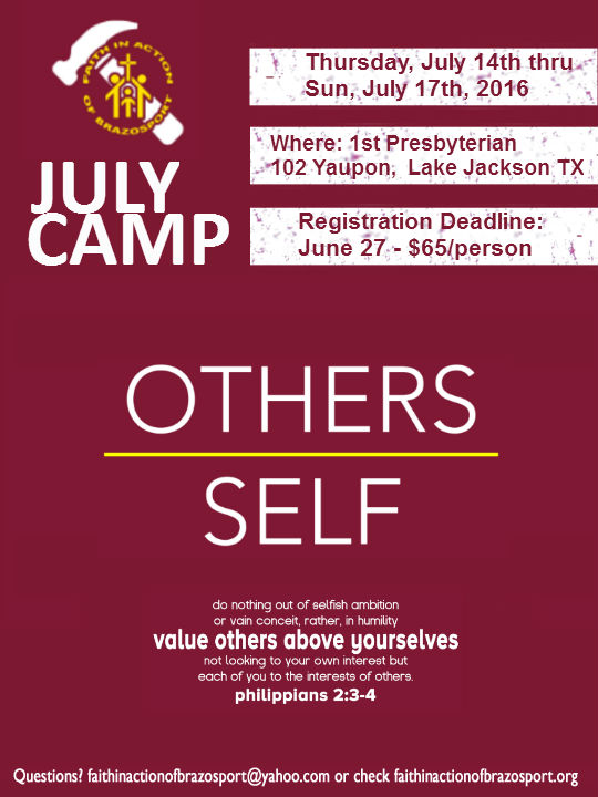 Camp Flyer July